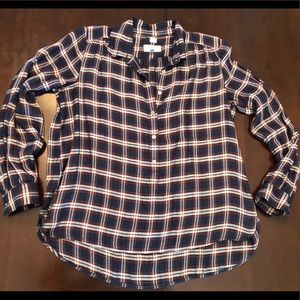 LOFT Softened Shirt Popover
